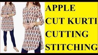 How to make apple cut kurti or gol daman kurti