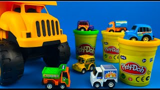 Playdoh Play with Wonderkids Mini City Trucks Fire Truck Ambulance Dump Truck CAT Dump Truck