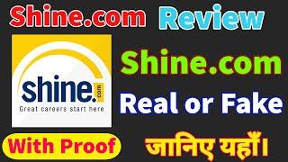 Shine.com review || shine.com real or fake || shine.com kya hai || best job searching website screenshot 2