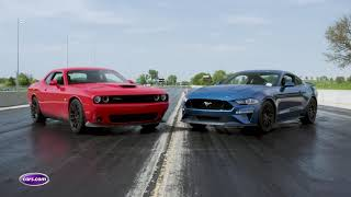 Dodge Challenger R/T Scat Pack 1320 Vs. Ford Mustang GT: Drag-Strip Tested — Cars.com
