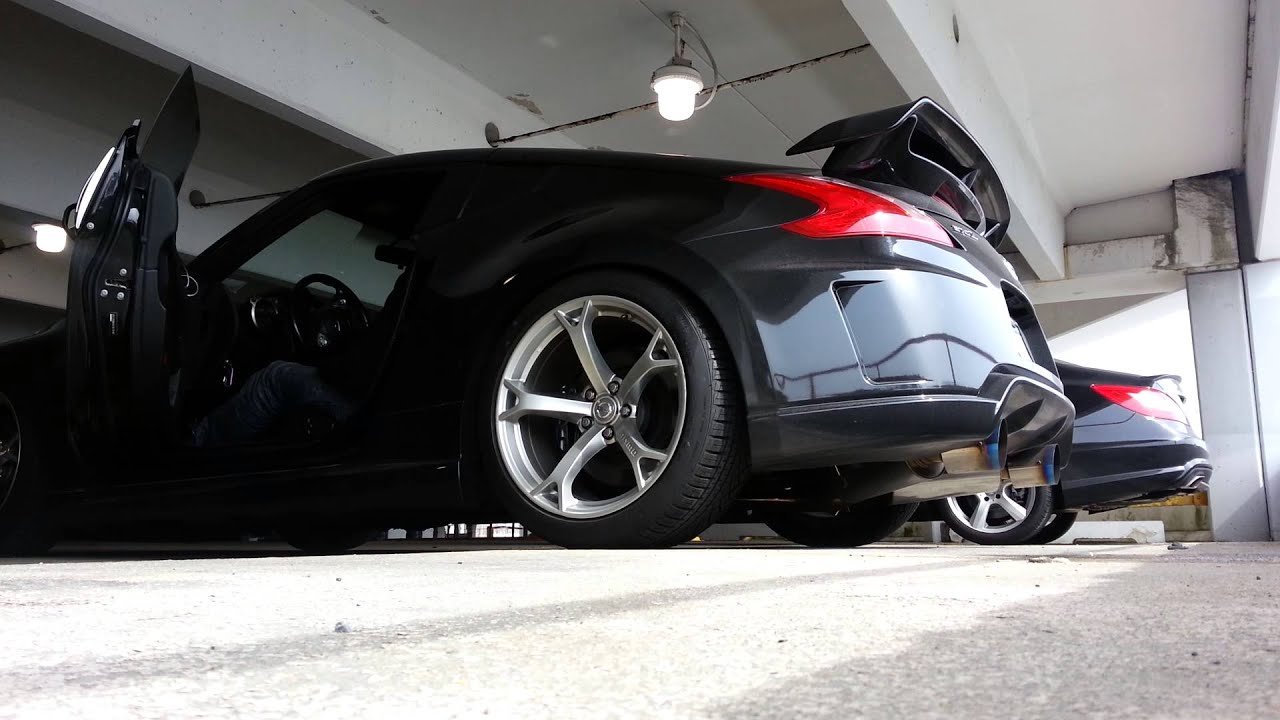 nissan nismo 370z with berk test pipes hks exhaust youtube. Black Bedroom Furniture Sets. Home Design Ideas