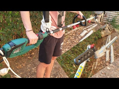 Parkside Electric Long-Reach Hedge Trimmer PHSL 900 A1 Unboxing TESTING