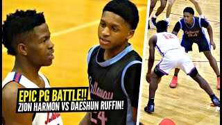 Gambar cover Zion Harmon vs 5'8 Daeshun Ruffin EPIC Point Guard BATTLE!! EXCITING PG's GO AT IT!