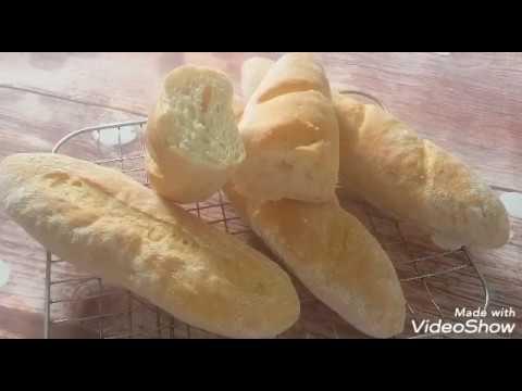 Bánh mì Pháp không nhồi / No knead French baguettes