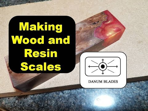 How to make knife scales from wood and resin