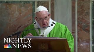 Pope Condemns Clerical Sexual Abuse, Survivors Disappointed In Lack Of Action | NBC Nightly News