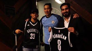 Gabriel Jesus and İlkay Gündoğan Take in a Game in Brooklyn