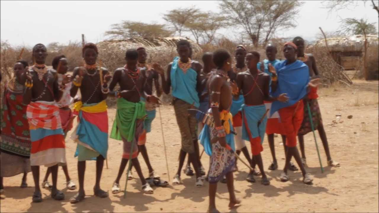 Traditional Music And Dance By The Samburu Tribals Of