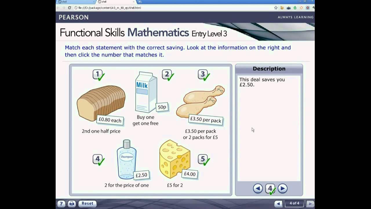 Functional Skills Mathematics Entry Level 3 demonstration video – Entry Level 3 Maths Worksheets