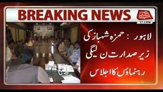 Hamza Shahbaz Chairs PMLN Leaders Meeting