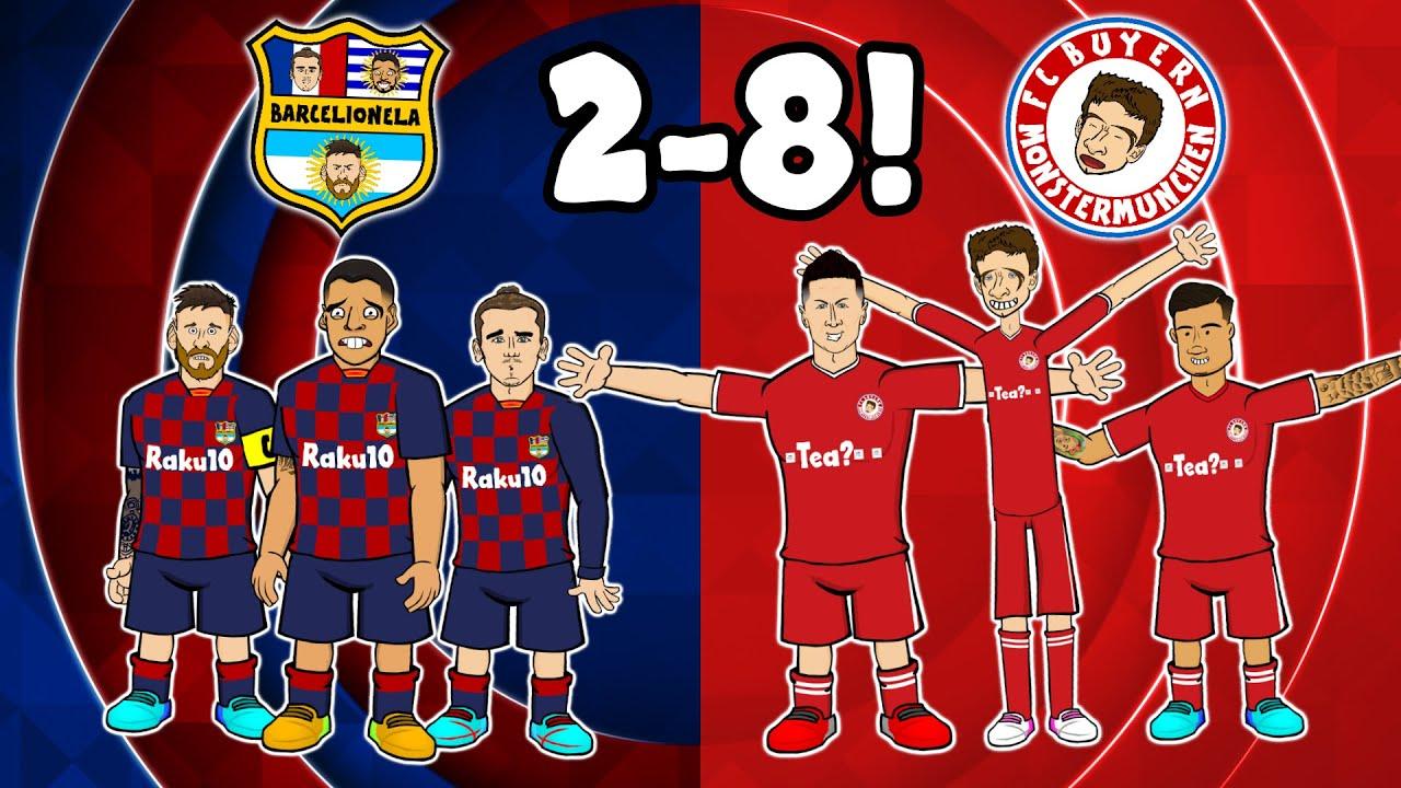 ?2-8! Bayern Crush Barcelona!? (Champions League Highlights Goals Bayern Munich 2020 MSN 123)