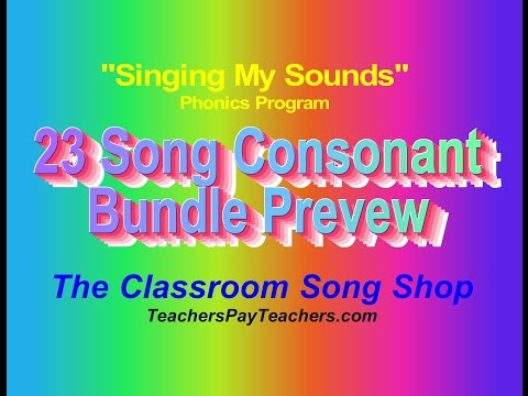 """""""Singing My Sounds"""" Consonant Songs Preview by Steven Traugh"""