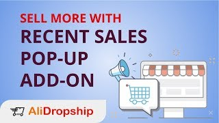 Recent Sales Pop-Up Add-On by AliDropship #dropshipping #aliexpressdropshipping #alidropship