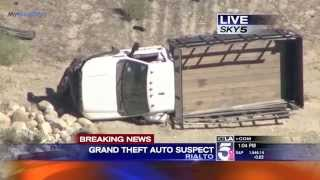 Police Pursuit - Bank Robbery Suspect GTA Pursuit SoCal October 02, 2014