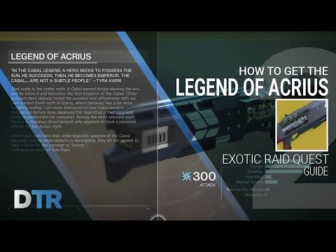 Destiny 2: How To Get The Legend of Acrius Quest Guide & Full Arms Dealer Strike