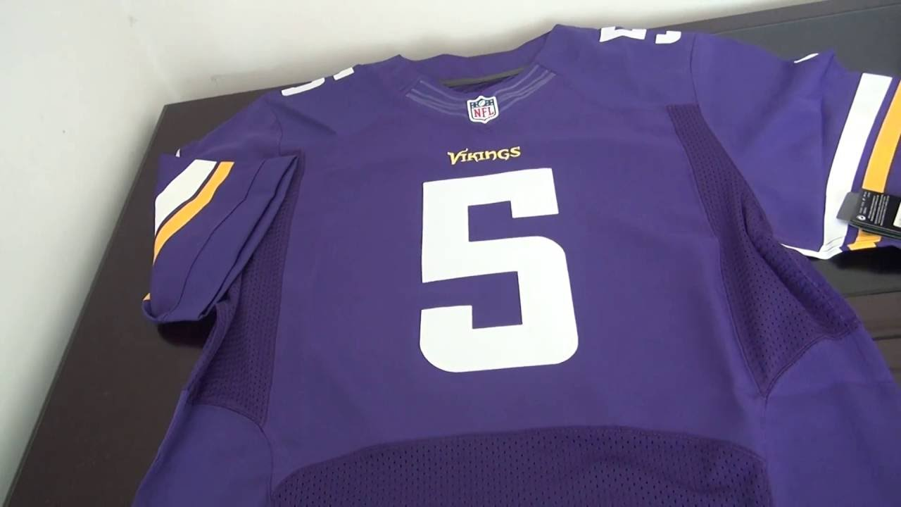 Cheap NFL Jerseys Wholesale - 5 Teddy Bridgewater Jersey Minnesota Vikings Jersey - YouTube