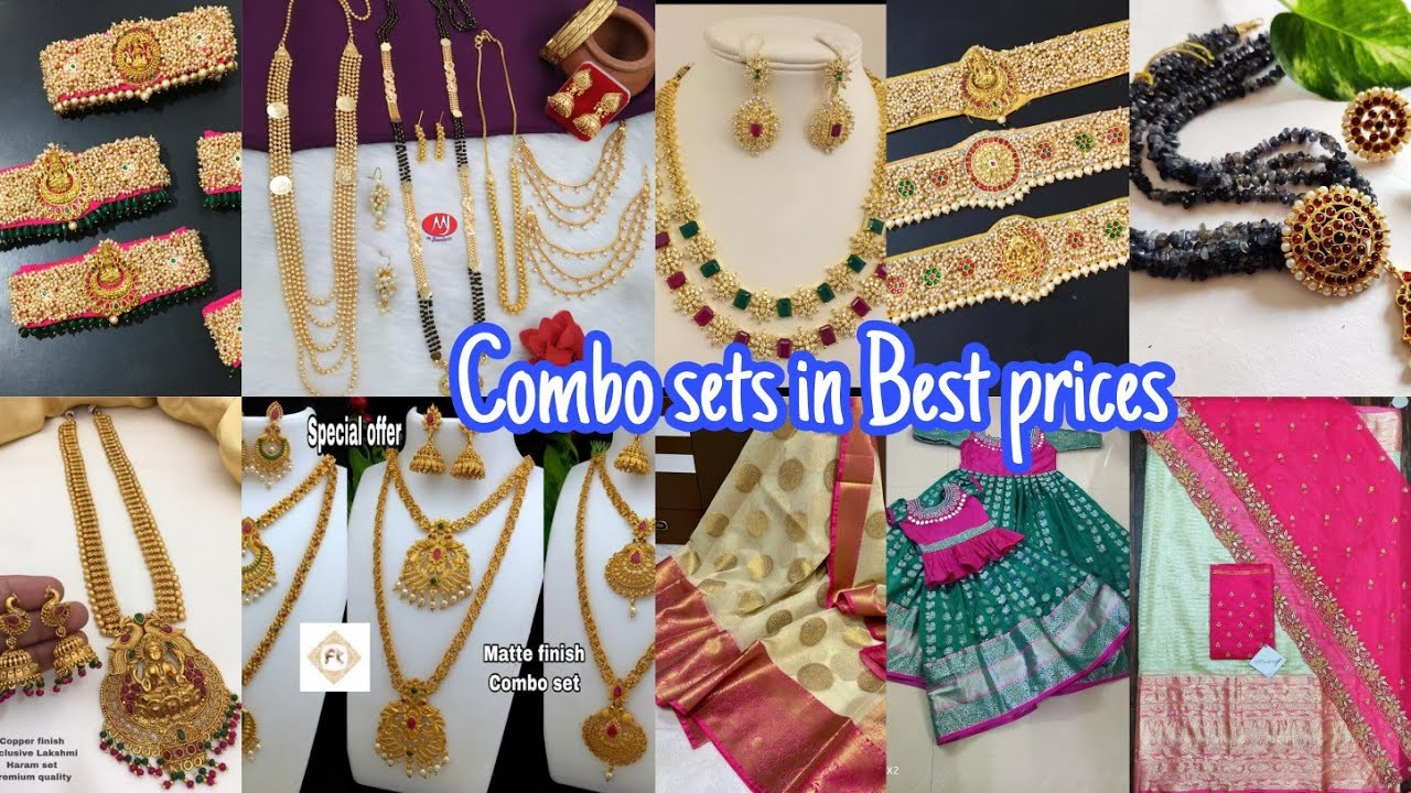 Combosets and jewellery from stockist with best prices &Free ship Handstock dailywear&fancy sarees