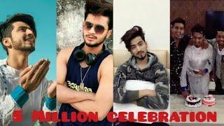 Mr Faisu, Hasnain, Adnaan, Faiz Baloch & Team07 celebrate 5 million followers of Mr Faisu in Tik Tok