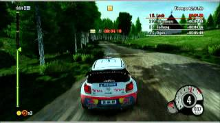 WRC 3 Gameplay Xbox 360 - Rally de Finlandia - Citroën DS3 WRC