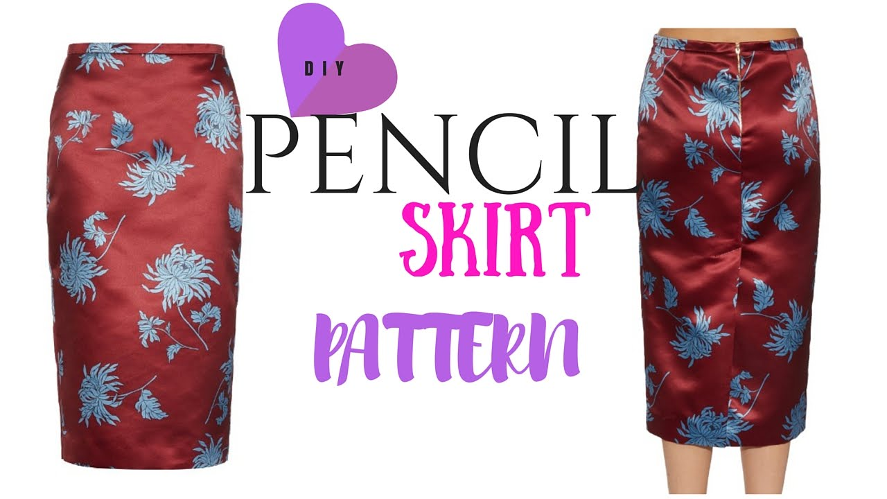 DIY Skirt: Pencil Skirt Pattern Tutorial - YouTube