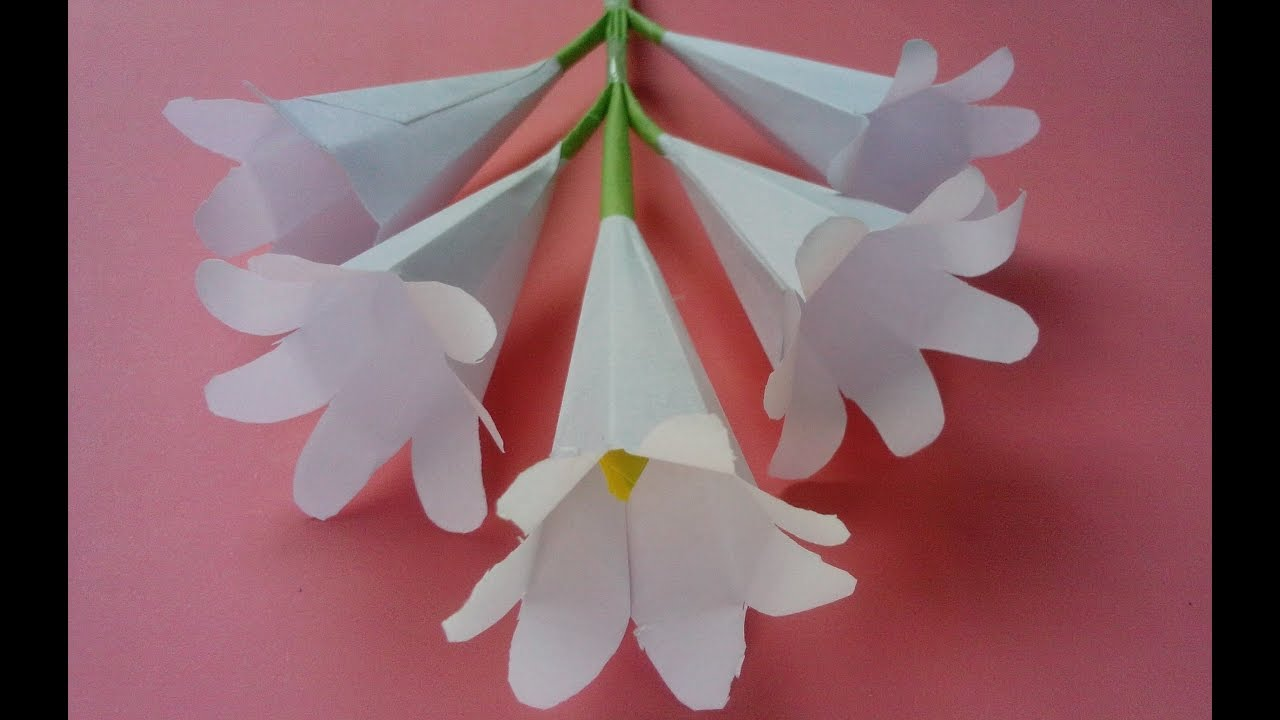 How to make origami paper flowers flower making with paper how to make origami paper flowers flower making with paper tutorials youtube mightylinksfo