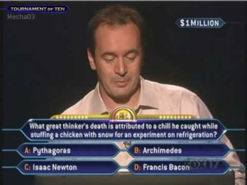 Tony Westmoreland S Million Dollar Question Who Wants To