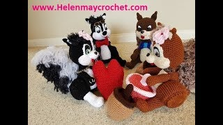 Crochet Squirrel, Skunk, and Cat Part 1 of 5 Introduction and Materials DIY Video Tutorial