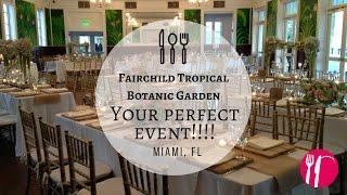 Fairchild Tropical Botanic Garden - Shabby Chic Style Wedding Reception.