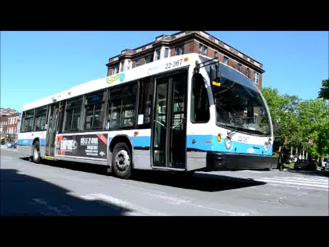 MONTREAL STM BUSES IN ACTION