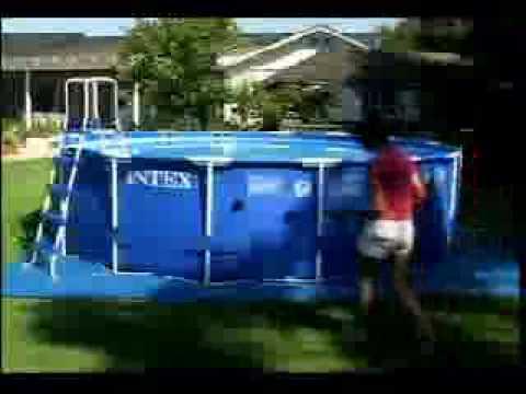 Intex 16ft sequoia spirit swimming pool setup dvd youtube for Intex sequoia