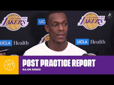 Rajon Rondo checks in on his health status, and says he's willing to do what the team needs | Lakers thumbnail