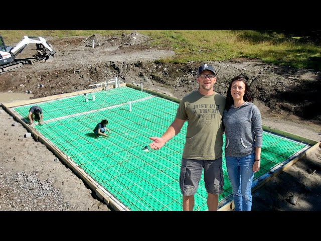 Our Concrete NEEDS Reinforcement!! Installing Rebar for Our NEW OFF-GRID Home in the WOODS