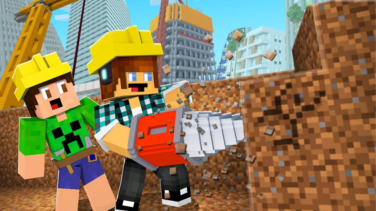 NOVA ESCAVADEIRA DO MINECRAFT ! - Minecraft Cidade #12