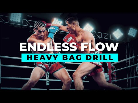 Endless Flow Bag Drill - Dutch Style Kickboxing & Muay Thai