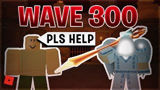 CARRYING A NOOB TO THE MAX WAVE IN NIGHTMARE MODE (Roblox Dungeon Quest Wave Defence)