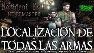 Resident Evil HD Remaster | Todas las armas | Logro / Trofeo: Armado hasta los dientes (PERDIBLE)