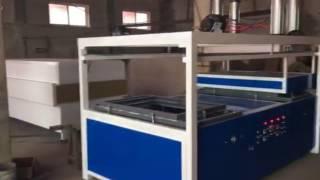 Luggage vacuum forming machine