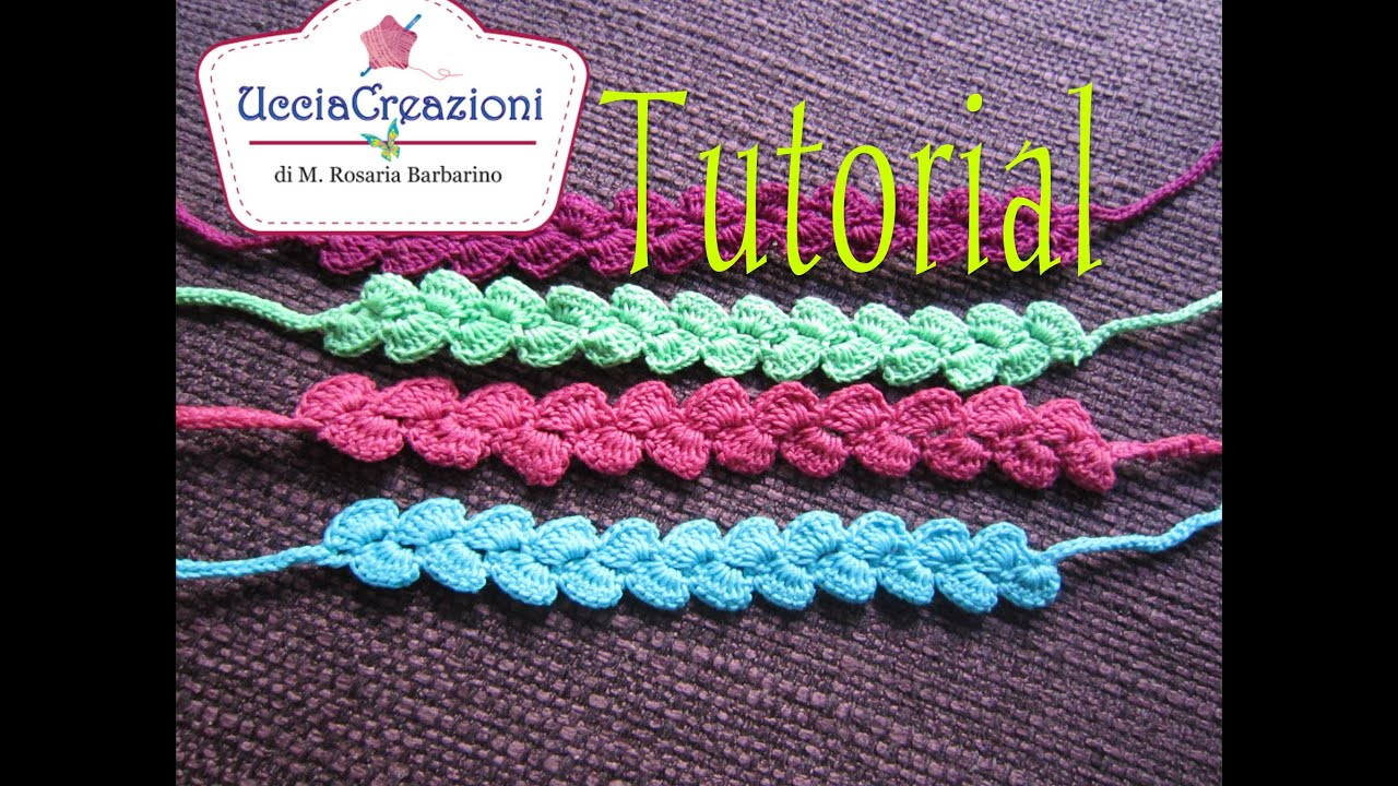 Crochet Tutorial Zigzag : Tutorial 9-Senza Musica * Bracciali Zig-Zag * Simil - Cruciani ...