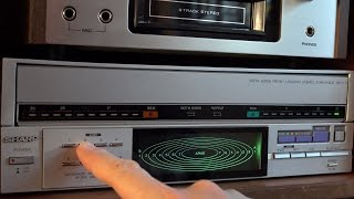 RetroTech: Play vinyl records with CD functionality - Sharp RP-117 Video