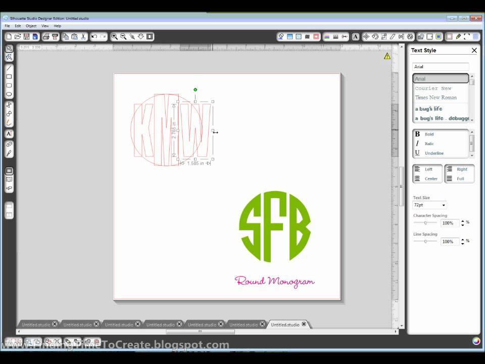 Circular monogram youtube circular monogram spiritdancerdesigns Images