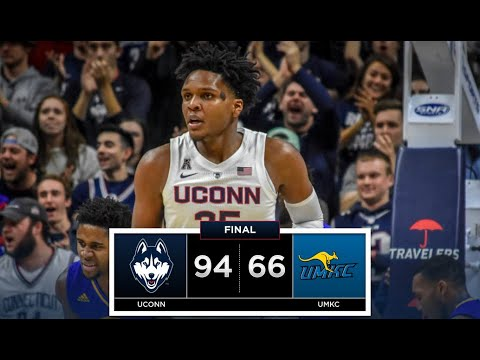UConn Men's Basketball Highlights v. UMKC 11/11/2018
