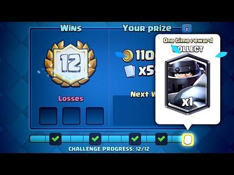 Clash Royale - 12-0 MEGA KNIGHT CHALLENGE DECK!