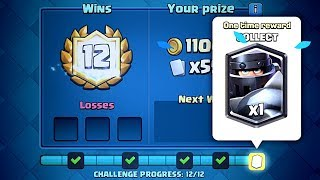 clash royale 12 0 mega knight challenge deck