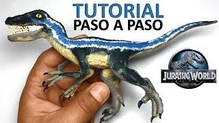 ★ jurassic world - Como hacer un Dinosaurio Velociraptor de plastilina
