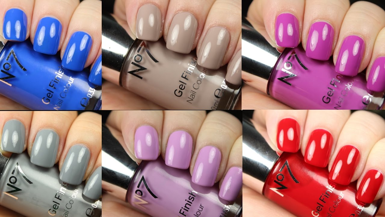 No7 Nail Polish | Live Application Review - YouTube