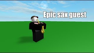 Roblox animation: Epic sax guest!