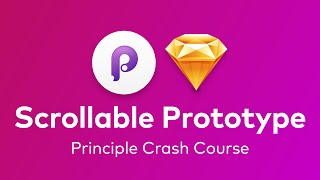 Principle - Prototype with Scrollable Content