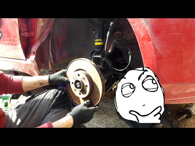 Montando pinza freno y disco |Parte 3 | Fiat 500 | La Bola Roja