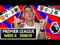 PREMIER LEAGUE 18/19 WEEK 6 SCORE PREDICTIONS & PREVIEW - MANCHESTER UNITED 0 - 3 WOLVES & MORE !