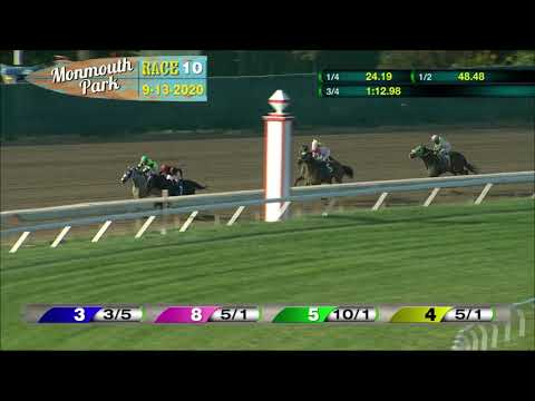 video thumbnail for MONMOUTH PARK 09-13-20 RACE 10